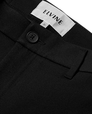 Elvine Crimson Stretch Chinos Men Black