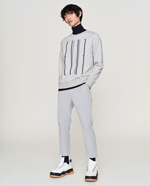 Elvine Nicandro Sweatshirt Men Grey Melange