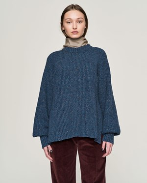 Elvine Freja Knitted jumper Women Blue Melange