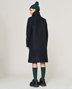 Elvine Julika Wool coat Women Blue Dogtooth