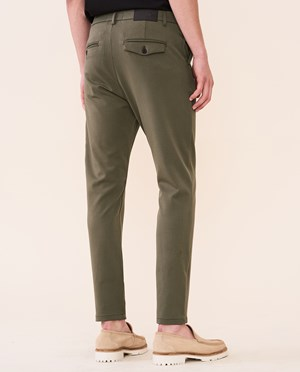 Elvine Crimson Stretch Chinos Men Silver Green