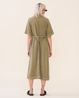Elvine Agustie Dress Women Khaki