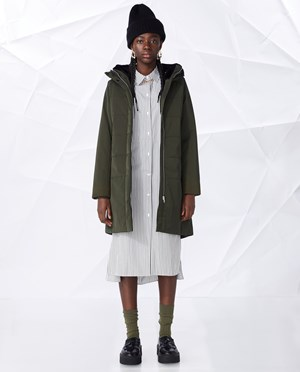Elvine Nette Parka Women Army Green