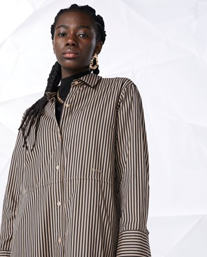 Elvine Laleh Shirt dress Women Black Stripe