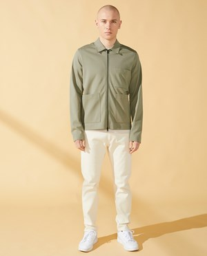 Elvine Accius Overshirt Men Sage