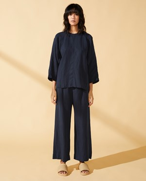 Elvine Aline Top Women Dark Navy
