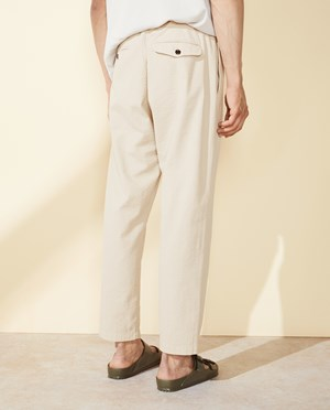 Elvine Maxson Pants Men Linen Grey